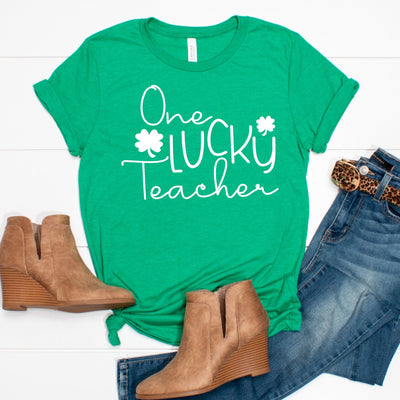 One Lucky Teacher St. Patrick's Day Tee - Limeberry Designs