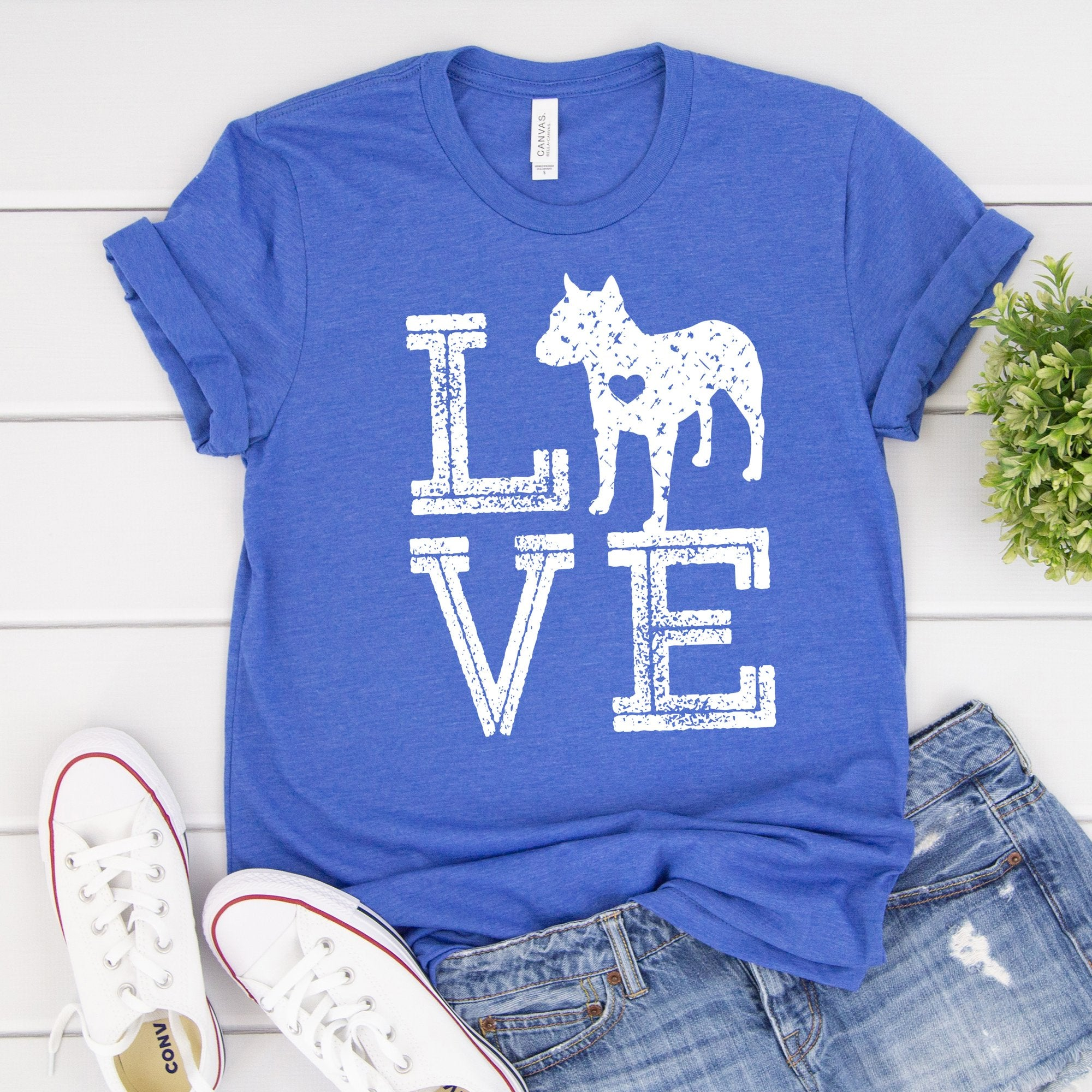 Love Dogs Pitbull Tee - Limeberry Designs
