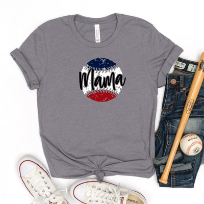 Mama Distressed Baseball Tee - Limeberry Designs
