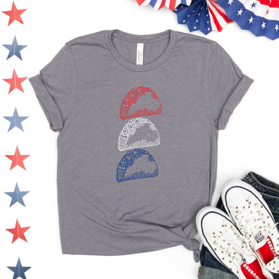 Red White Blue Taco Tee - Limeberry Designs