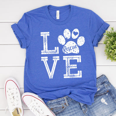 Love Dogs Rescue Tee - Limeberry Designs