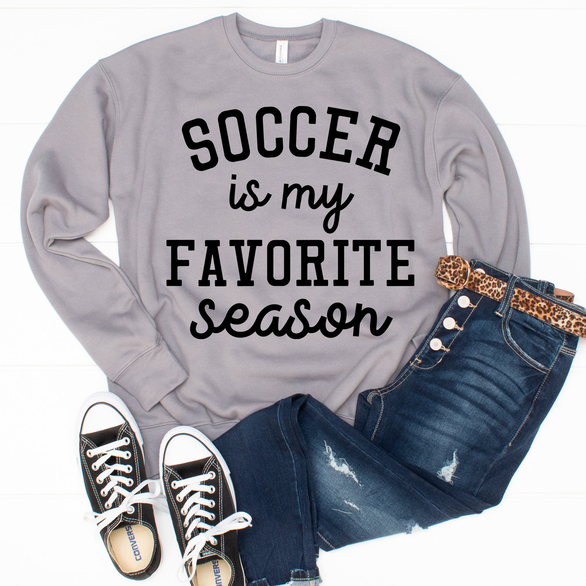 Favorite Season Sweatshirt - Soccer - Limeberry Designs