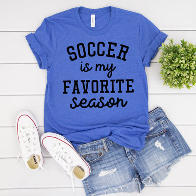 Soccer is my Favorite Season Tee - Limeberry Designs