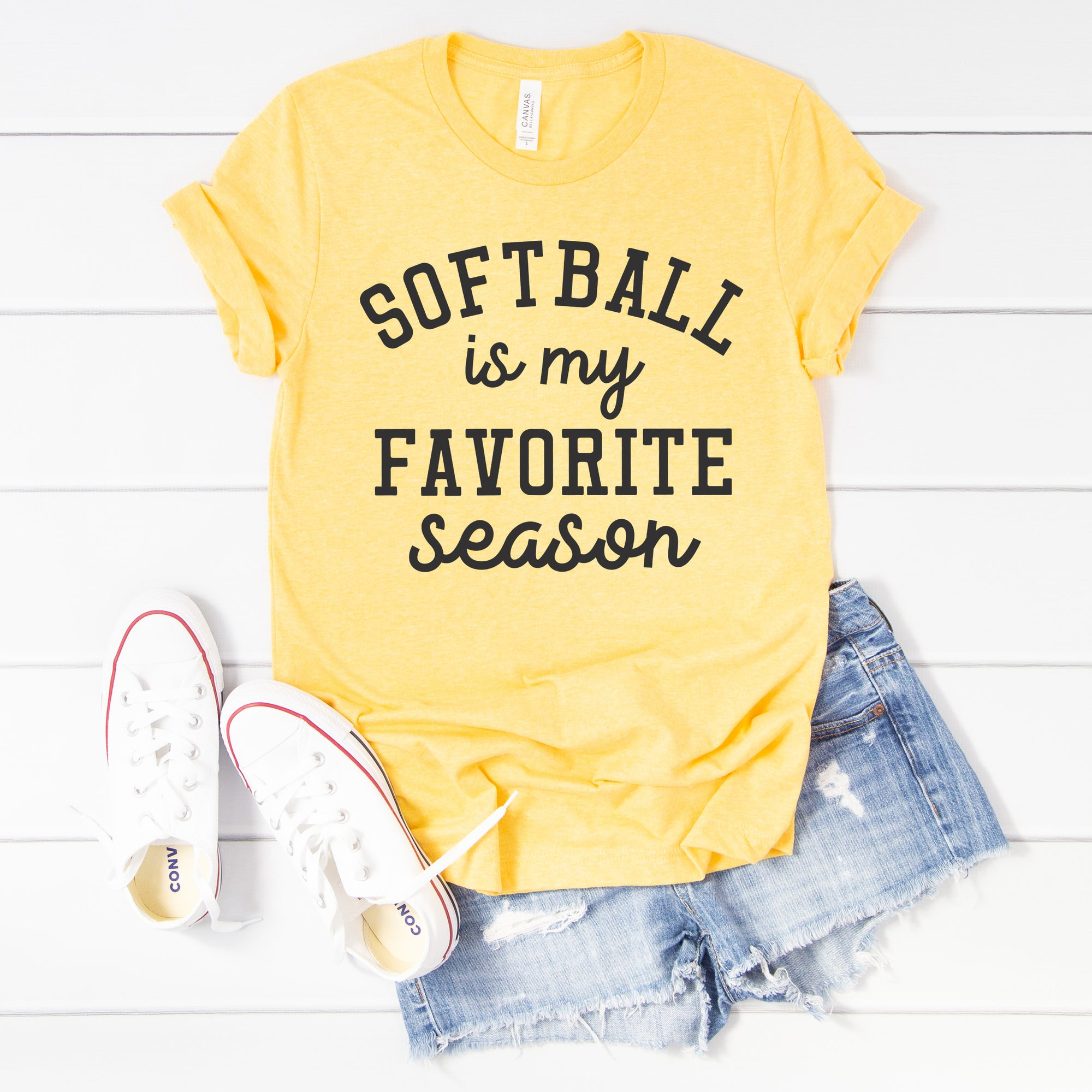 Softball is My Favorite Season Tee - Limeberry Designs