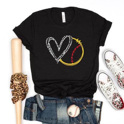 Softball Love Leopard Tee - Limeberry Designs