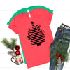 Merry Christmas Striped Tree Tee