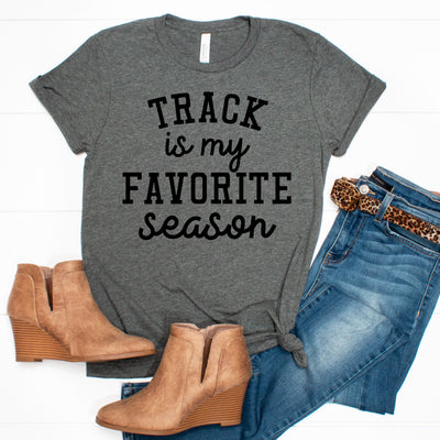 Track is my Favorite Season Tee - Limeberry Designs