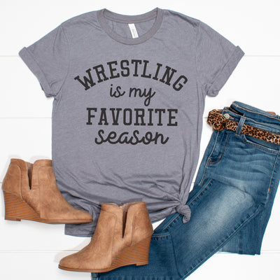 Wrestling is my Favorite Season Tee - Limeberry Designs