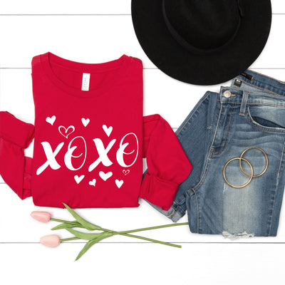 XOXO Hearts Long Sleeve Tee