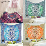 4 images of Mandala Wall Tapestry Various Colors and Designs