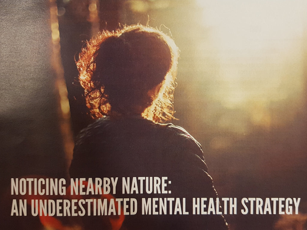 Noticing Nearby Nature: An Underestimated Mental Health Strategy