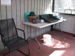 Set up a potting table