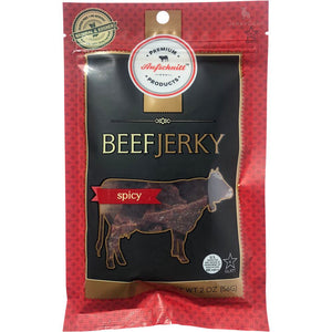 Aufschnitt Artisan Beef Jerky Spicy Front of Package