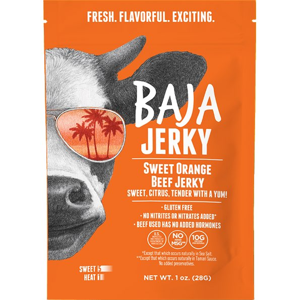 Baja Jerky Sweet Orange Flavored Beef Jerky