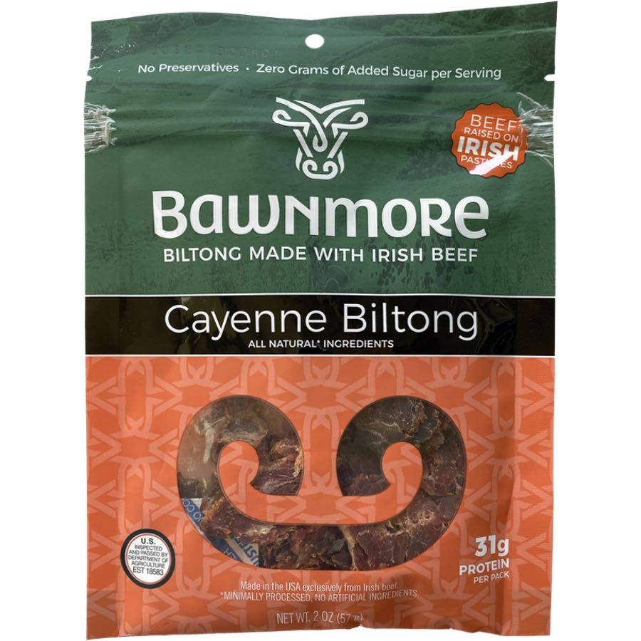 Bawnmore Spicy Biltong Made WIth Irish Beef and Cayenne.