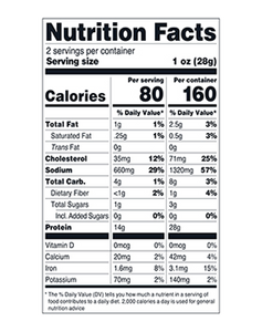 Bawnmore Original Irish Beef Jerky Nutrition Facts