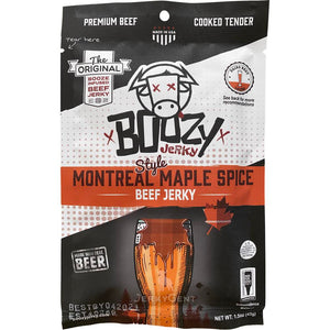 Boozy Jerky Montreal Maple Spice Lager Beef Jerky
