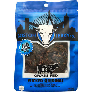 Boston Jerky Co Wicked Original - Grass Fed Beef - Front