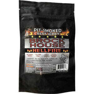 Brockhouse Hellfire Pit-Smoked Beef Jerky Spicy Front