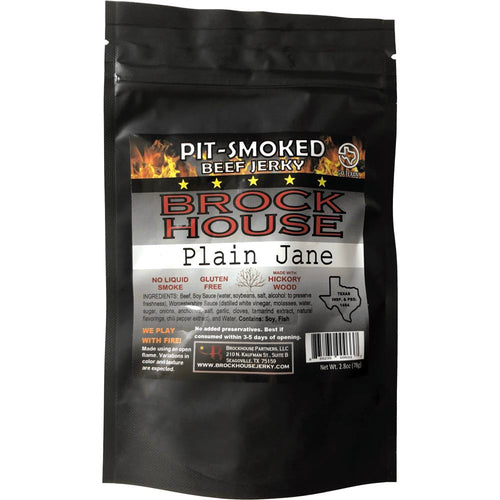 Brock House Beef Jerky Plain Jane Original Front