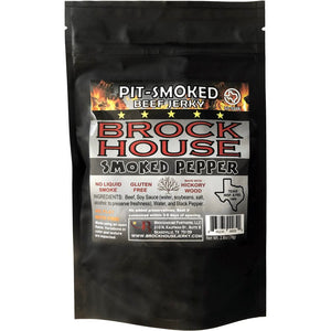 Brock House Smoked Pepper Beef Jerky Front