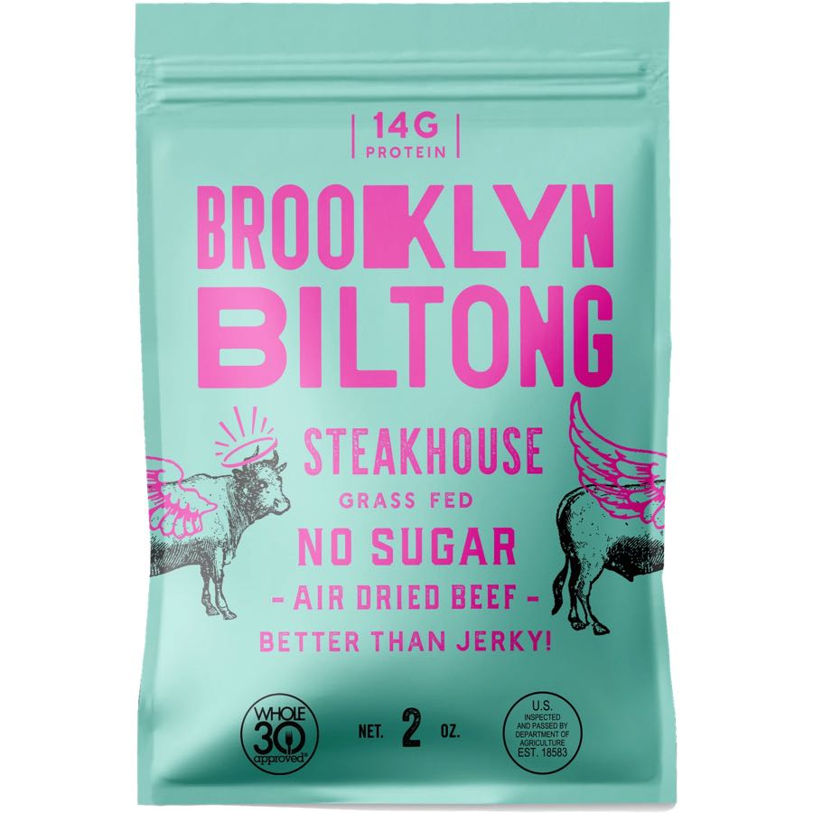 Brooklyn Biltong Steakhouse Flavored Biltong Front
