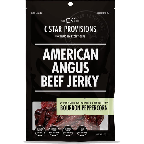 C-Star Provisions Bourbon Peppercorn American Angus Beef Jerky