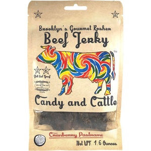 Candy and Cattle Cranberry Pastrami Flavored Craft Beef Jerky