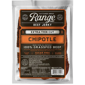 Cattaneo Bros Chipotle Beef Jerky Range Grass Fed