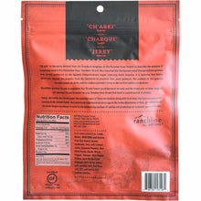 Charki Red Chile Lamb Jerky Back of Package Nutrition Label
