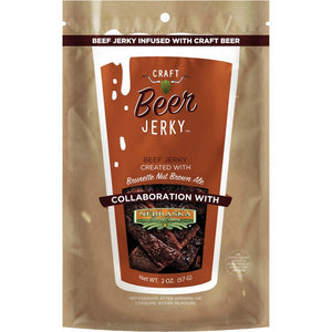 Craft Beer Jerky Nebraska Brewing Co Brunette Nut Brown Ale Infused Beef Jerky Front