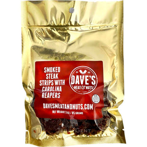 Carolina Reaper Spicy Beef Jerky Daves Meat and Nuts