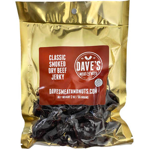 Dave's Meat & Nuts Classic Smoked Dry Beef Jerky
