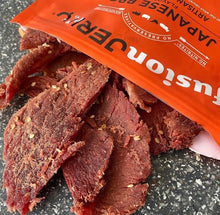 Fusion Jerky Japanese BBQ Beef Jerky Opened Bag