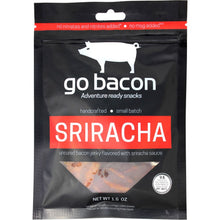 GoBacon Sriracha Flavored Spicy Bacon Jerky Strips