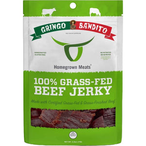 Homegrown Meats Gringo Bandito Hot Sauce Infused Beef Jerky Front