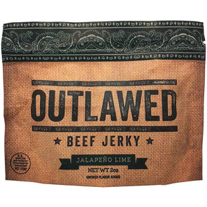 Outlawed Jalepeno Lime Flavored Beef Jerky