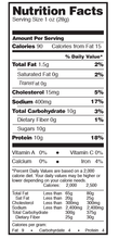 Fusion Jerky Japanese BBQ Nutrition Facts