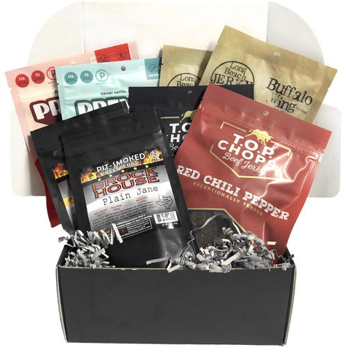 JerkyGent XL Beef Jerky Subscription Box. Best Jerky Club.