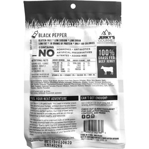 Jerkys Gourmet Black Pepper Back Of Package Nutrition Facts