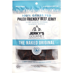Jerky's Gourmet Paleo Friendly Naked Original Beef Jerky