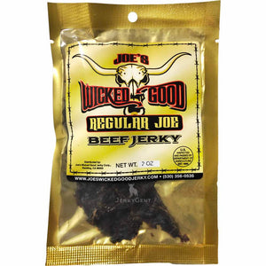 Joe's Wicked Good Beef Jerky Regular Joe Original Front