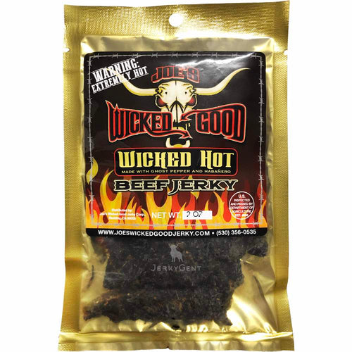 Joe's Wicked Good Beef Jerky Wicked Hot Spicy Front