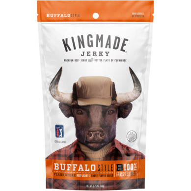 Kingmade Jerky Buffalo Wing Flavored Flank Steak Beef Jerky