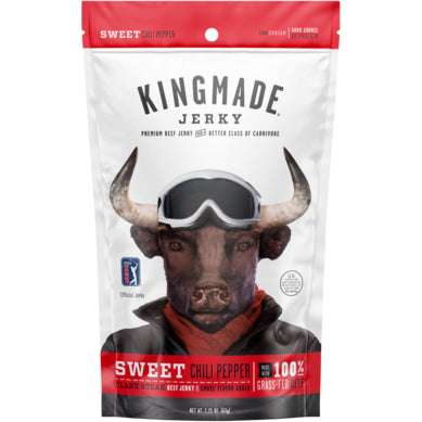 Kingmade Jerky Sweet Chili Pepper Flank Steak Beef Jerky