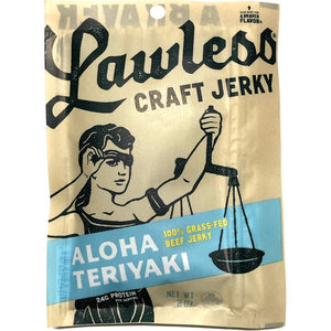 Lawless Craft Jerky Aloha Teriyaki Flavored