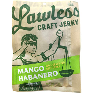 Lawless Beef Jerky Mango Habanero Front Of Package