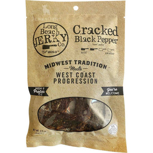 Long Beach Jerky Co. Cracked Black Pepper Beef Jerky