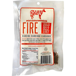 Naked cow fire hot and spicy beef jerky