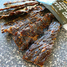 No Man's Land Black Pepper Beef Jerky Close Up